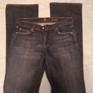 SEVEN FOR ALL MANKIND darkwash jeans
